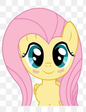 Kawaii - Fluttershy Pony Kavaii Clip Art PNG