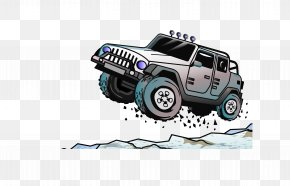 Jumping Jeep - Jeep Car Euclidean Vector Off-road Vehicle PNG