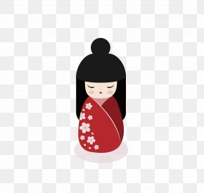 Sakura Kimono Doll - Japanese Dolls Japanese Dolls Kokeshi PNG