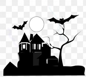 Black And White House Clipart - White House Haunted Attraction Black And White Clip Art PNG