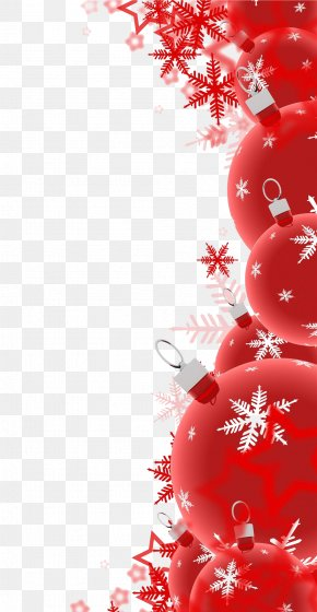 Red Christmas Decoration - Christmas Decoration Santa Claus Clip Art PNG