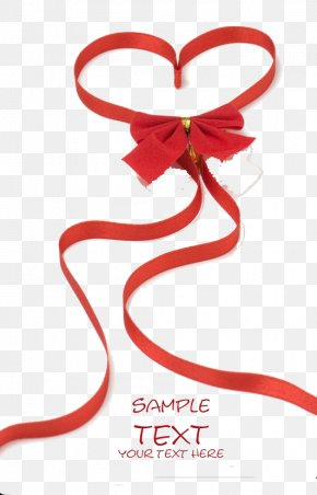 Red Ribbon Chinese Knot - Red Ribbon Heart Love Valentine's Day PNG