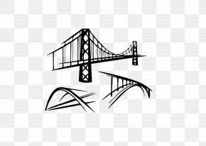 Vector Can Edit Black And White Yangtze River Bridge - Bridge Royalty-free Stock Illustration Illustration PNG