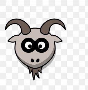 Black Line Animal Goat - Goat Cartoon Zazzle Clip Art PNG