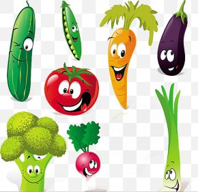 Vegetable Cartoon - Vegetable Cartoon Royalty-free Clip Art PNG