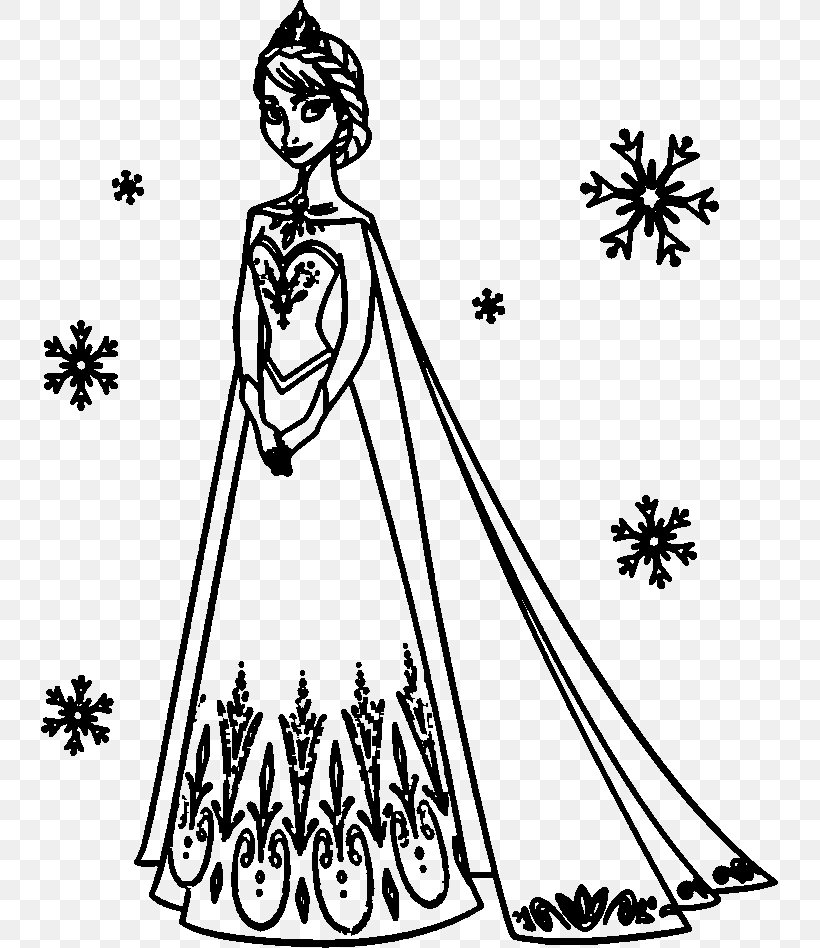 Elsa Anna Olaf Coloring Book Drawing Png 737x948px Elsa Anna