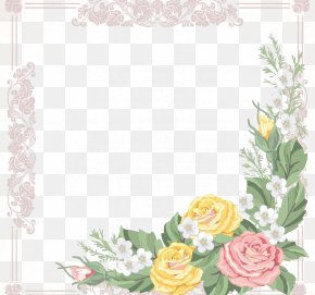 Peony Former Prime Box - Borders And Frames Flower Picture Frame Drawing PNG