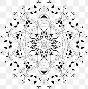 Design - Floral Design White Symmetry Pattern PNG