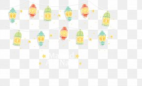 Holiday Lights - Yellow Pattern PNG