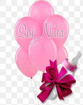 Baby Shower - Balloon Flower Bouquet Birthday Pink Baby Shower PNG