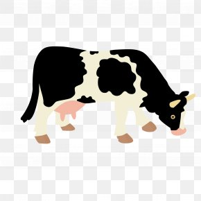 Cow Vector - Holstein Friesian Cattle Beef Cattle Dairy Cattle PNG