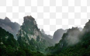 Jungle Mountains - Technical Drawing Fog PNG