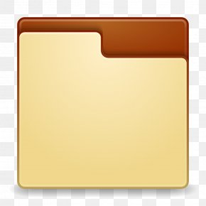 Places Folder - Square Angle Material Yellow PNG