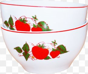 Strawberry Printing Jobs - Strawberry Bowl Ceramic Porcelain PNG