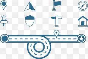 Blue Road Icon Material - Symbol Logo Icon PNG