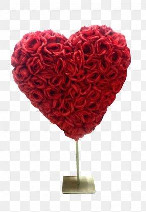 Red Heart - Garden Roses Flower Heart Petal PNG