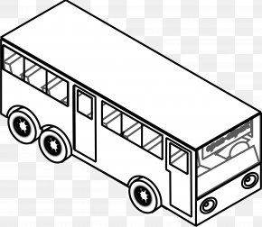 Subway Clipart - Airport Bus School Bus Black And White Clip Art PNG