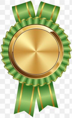 Seal Badge Gold Green Clip Art Image - Guild Wars 2 Bio-Venta Clip Art PNG