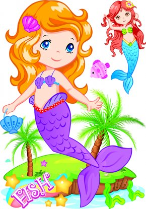 Beautiful Mermaid - Mermaid Download Clip Art PNG