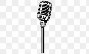 Mic Picture - Microphone Black And White Pattern PNG