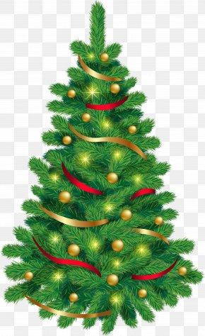 Christmas Tree Clip Art - Santa Claus Christmas Tree Cartoon Christmas Day Clip Art PNG
