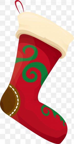 Red Fresh Socks - Christmas Stocking Sock Clip Art PNG