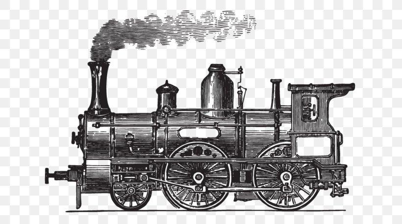 Train Station Rail Transport Locomotive Passenger Car, PNG, 800x458px, Train, Auto Part, Automotive Engine Part, Black And White, Building Download Free