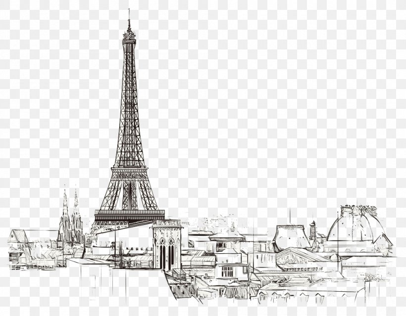 Paris Royalty Free Drawing Illustration Png 1000x780px Paris Black And White Drawing France Light Fixture Download