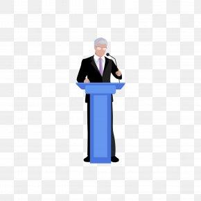 Speaking Of Men - Microphone Cartoon Broadcaster PNG
