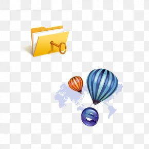 Business Folder Hot Air Balloon Icon - Directory Balloon Icon PNG