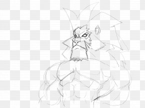 Dinasor - Line Art Figure Drawing Cartoon Sketch PNG