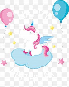 Lovely Pegasus Birthday Card - Birthday Greeting Card Euclidean Vector PNG