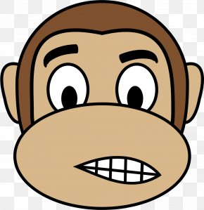 Monkey - Ape Primate Monkey Crying Clip Art PNG