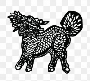 Black And White Unicorn - Horse Black And White Papercutting Clip Art PNG