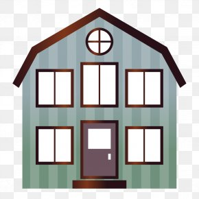 Cyan House - House Building Clip Art PNG