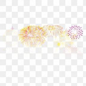 Colorful Fireworks - Yellow Petal Pattern PNG