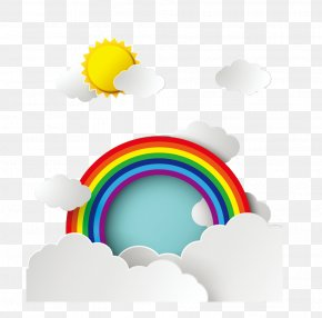Cartoon Rainbow - Rainbow Sky Web Banner Color PNG