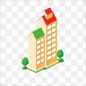 Flat Building - Building Euclidean Vector Gratis Icon PNG