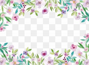 Watercolor Flowers Small Fresh Borders - Watercolor Painting Clip Art PNG