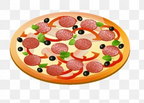 Creative Pizza - Hawaiian Pizza Italian Cuisine Clip Art PNG