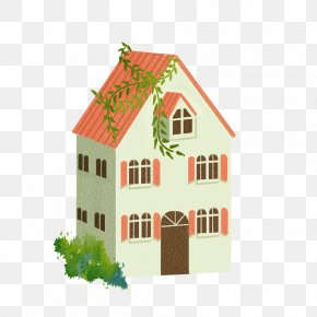 Orange House - House Home Building Computer File PNG