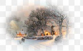 Fantasy Winter Background - Winter Snow Christmas Desktop Wallpaper 4K Resolution PNG