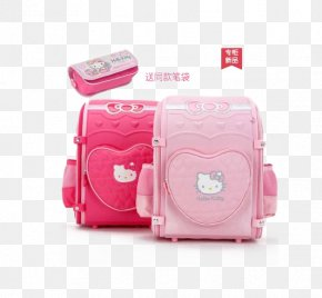 Hello Kitty Schoolbag Girls - Hello Kitty Sanrio My Melody Handbag Satchel PNG