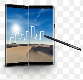 Samsung - Samsung Galaxy Note 8 Display Device Electronic Visual Display Smartphone PNG