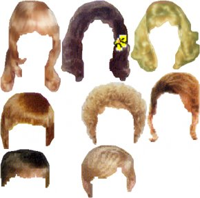 Hair Style Cliparts - Hairstyle Fashion Clip Art PNG