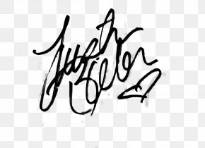 Signature - My World Tour Signature Autograph Never Say Never: The Remixes PNG