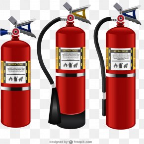 3 Red Extinguisher Vector Material Downloaded, PNG