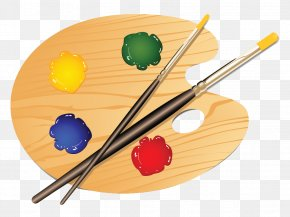 Paint Palate Cliparts - Painting Palette Drawing Tool PNG
