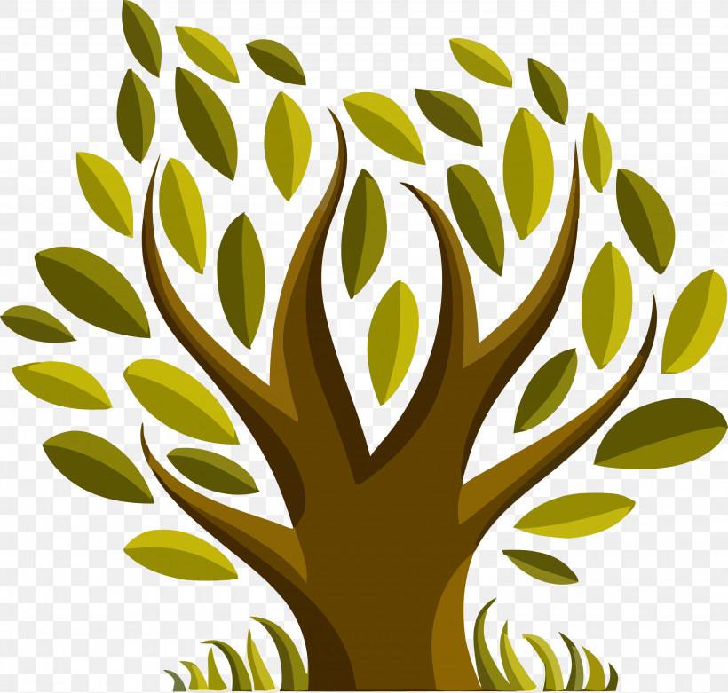 Green Leaf Tree Plant Yellow, PNG, 3000x2858px, Tu Bishvat Tree, Abstract Tree, Cartoon Tree, Flower, Grass Download Free