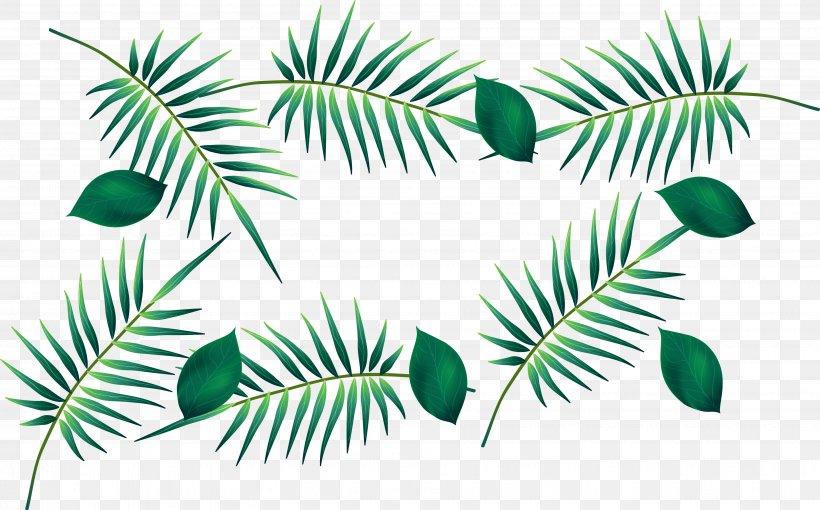 Green Leaf Watercolor Painting, PNG, 3695x2299px, Green, Arecales, Banana, Banana Leaf, Branch Download Free
